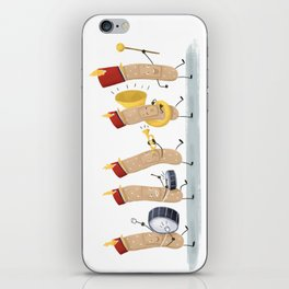 Marching Band-Aids iPhone Skin