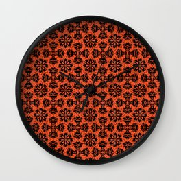 Flame Floral Wall Clock