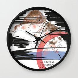 Mind the gap Wall Clock