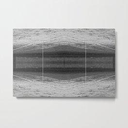 Graphic Beach Print Metal Print