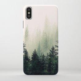 Foggy Pine Trees iPhone Case