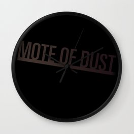 Mote of Dust Sunbeam Logo Wall Clock