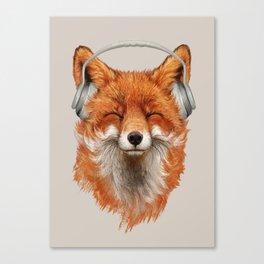 The Musical Fox Canvas Print