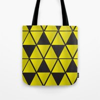 triforce Tote Bags featuring Triforce  by Stephanie Williams