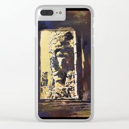 Temple of the Bayon at Angkor Wat ruins- Siem Reap, Cambodia Clear iPhone Case
