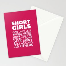 Short Girls Funny Quote Stationery Cards