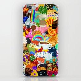 Sticker overload iPhone Skin