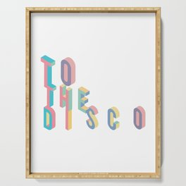 Disco T-Shirt - Vintage Style Disco Shirt Serving Tray