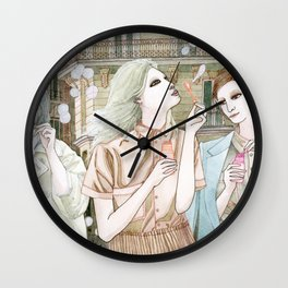 Soap Bubbles In The City Wall Clock