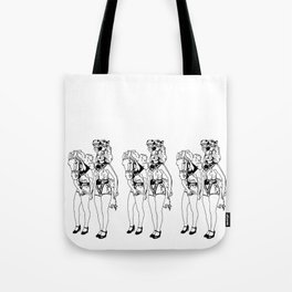 Showgirls_Black and White (Trio) Tote Bag