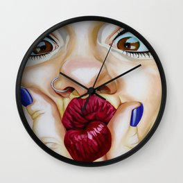 Selfie Sunday Wall Clock