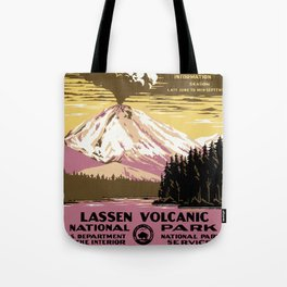 Lassen Volcanic National Park Vintage Tote Bag