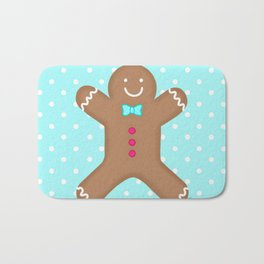 Yummy Gingerbread Man Cookie Bath Mat