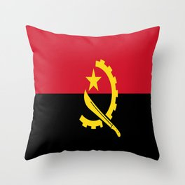 Flag Of Angola Throw Pillow