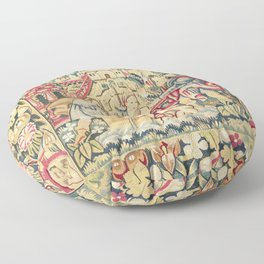 Susanna and the Elders 16th Century German Tapestry Print Floor Pillow