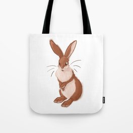 Fluffy Easter Bunny Tote Bag