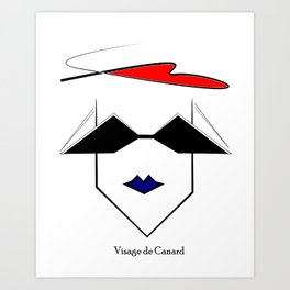 Visage de Canard Art Print