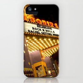 Sidewalk Cinema iPhone Case