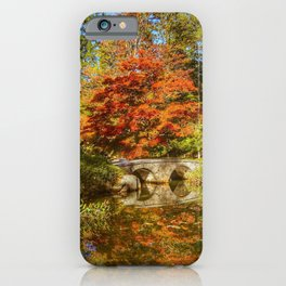 Japanese garden at Maymont Park iPhone Case