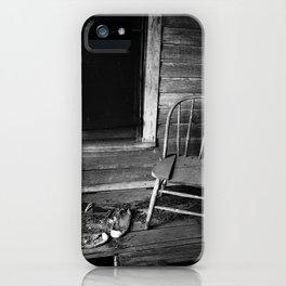 Old Chair in an Abandoned House iPhone Case
