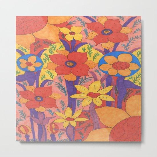Sunshine and Wildflowers Metal Print