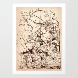 No God without the Devil Art Print