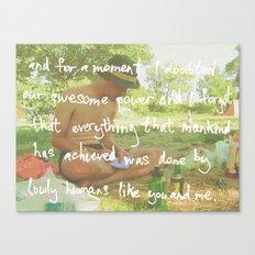 it's just us Canvas Print
