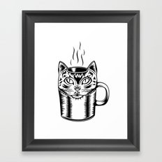 Coffee Cat Framed Art Print
