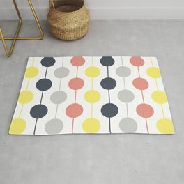 Colorful circles and stripes Rug