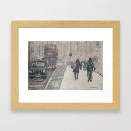 London Snow Framed Art Print