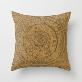 Gold Etching Throw Pillow