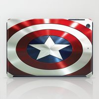 steve rogers iPad Cases featuring Captain Steve Rogers Shields  by neutrone