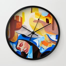 Composition Painting Castle Introspection Wall Clock