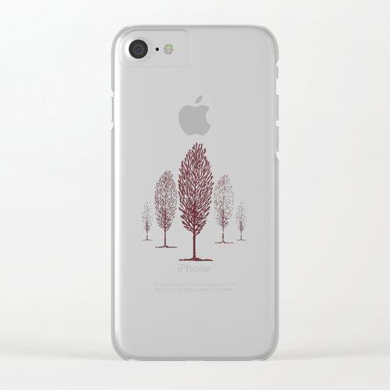 Terra di siena Clear iPhone Case