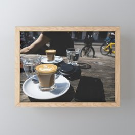 Perfect flat white on a summer afternoon Framed Mini Art Print