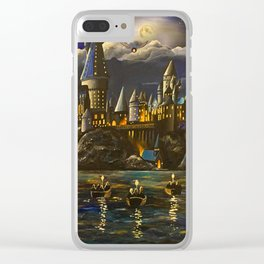 Castel at Starry night Clear iPhone Case