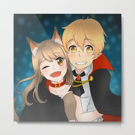 Reina and Yosuke [Halloween] Metal Print
