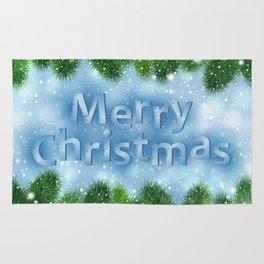 Christmas card Rug