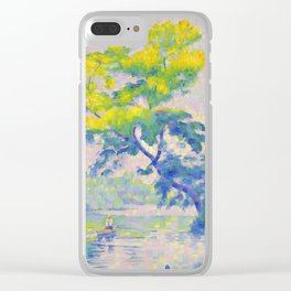 "Henri-Edmond Cross ""L'Arbre penché ou Le Rameur"" Clear iPhone Case"
