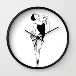 Ballerina with Elegance Wall Clock