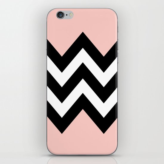 DOUBLE COLORBLOCK CHEVRON {PEACH/PEACH} iPhone & iPod Skin