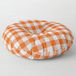 Orange Red Buffalo Plaid Floor Pillow