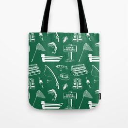 Gone Fishing // Jewel Green Tote Bag