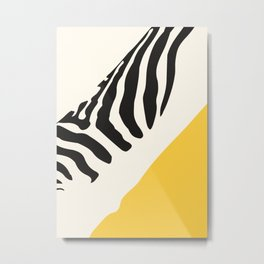 Zebra Abstract Metal Print