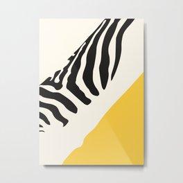 Zebra Abstract Metal Print