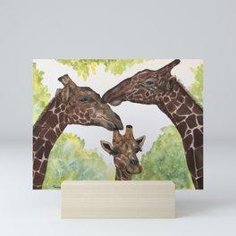 Giraffe Love by Maureen Donovan Mini Art Print