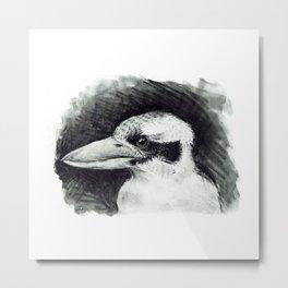 Kookaburra (Australian Bird) #illustration #bird Metal Print