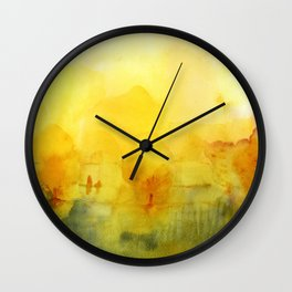 Memory of a landscape Wall Clock
