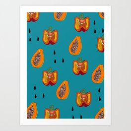 DINNER IN SPAIN BLUE Art Print