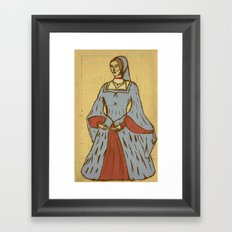 Queen of Heads on Parchment Framed Art Print